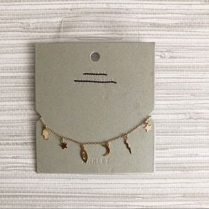 Urban Outfitters Jewelry - UO Gold Stars and Icons anklet bracelet NWT